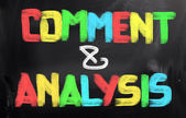 Comment And Analysis Concept — Stock fotografie