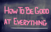 How To Be Good At Everything Concept — Foto Stock
