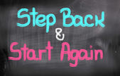 Step Back And Start Again Concept — Stockfoto