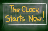 The Clock Starts Now Concept — Stock Photo