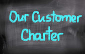 Our Customer Charter Concept — Stock Photo