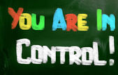 You Are In Control Concept — Stock Photo