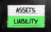 Assets Liability Concept — Stock Photo