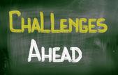 προκλήσεις μπροστά έννοια — Φωτογραφία Αρχείου