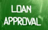 贷款审批概念 — 图库照片