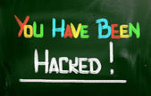 You Have Been Hacked Concept — Stock Photo