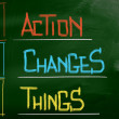 Action Changes Things Concept — Stock Photo