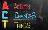 Concepto de acción cambios cosas — Foto de Stock