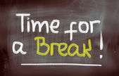 Time For A Break Concept — Foto Stock