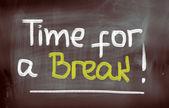 Zeit für eine pause-konzept — Stockfoto