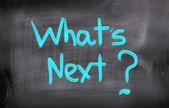 What's Next Concept — Stock Photo