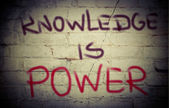 Knowledge Is Power Concept — Stock Photo