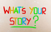 What's Your Story Concept — Stok fotoğraf
