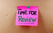 Time For Review Concept — Stock Photo