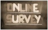 Online-undersökning koncept — Stockfoto