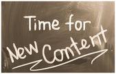 Time For New Content Concept — Foto de Stock