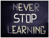 Never Stop Learning Concept — 图库照片