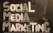Conceito de marketing de mídia social — Fotografia Stock