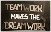 Trabajo en equipo hace que el concepto de trabajo de sueño — Foto de Stock