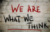 We Are What We Think Concept — Foto Stock