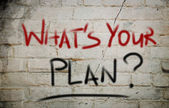 What's Your Plan Concept — Foto Stock