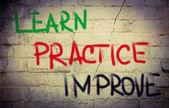 Learn Practice Improve Concept — Stock Photo