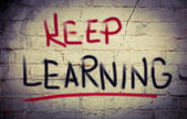 Keep Learning Concept — Stock Photo