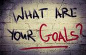Vad är ditt mål koncept — Stockfoto