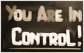 You Are In Control Concept — Foto de Stock