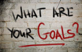 Wat zijn uw doelen concept — Stockfoto