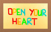 Open Your Heart Concept — Stock Photo