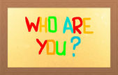 Who are you — Foto Stock