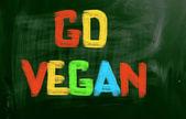 Go Vegan Concept — Stock Photo