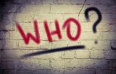 Who Concept — Stock Photo