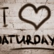 Постер, плакат: I Love Saturday Concept