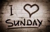 I Love Sunday Concept — Stock Photo