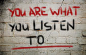 You Are What You Listen To Concept — Stock Photo