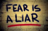 Fear Is A Liar Concept — Stock Photo
