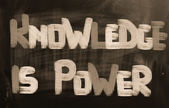 Knowledge Is Power Concept — Stock fotografie