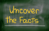 Uncover The Facts Concept — Stock Photo