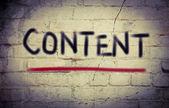 Content Concept — Stock Photo