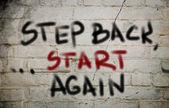 Adım geri kavramı yeniden başlatın — Stok fotoğraf