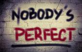 Nobody's Perfect Concept — Stock Photo