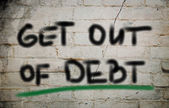 Get Out Of Debt Concept — Stock Photo