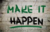 Make It Happen Concept — Stock Photo