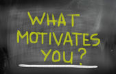What Motivates You Concept — Stock Photo