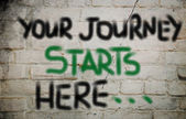 Your Journey Starts Here Concept — Photo