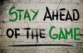 Stay Ahead Of The Game Concept — Stok fotoğraf
