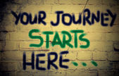 Your Journey Starts Here Concept — Stock fotografie