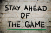 Stay Ahead Of The Game Concept — Foto de Stock